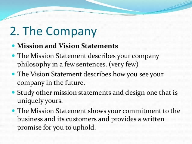 Mission statement examples for business plans