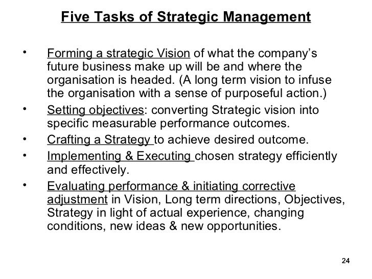 importance of strategic management 1 the role of strategic management in achieving agribusiness capstone course objectives charles hall and kerry litzenberg texas a&m university introduction.