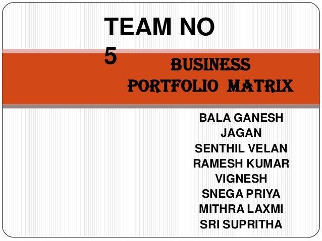 Business portfolio  matrix