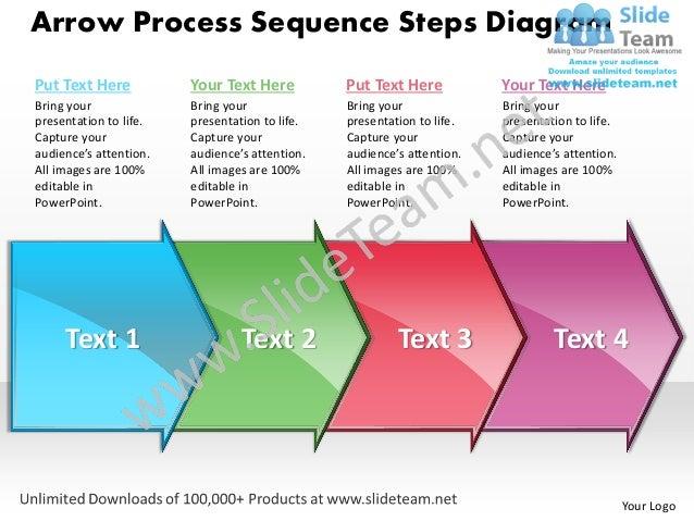 Business power point templates arrow process sequence steps diagram sales ppt slides