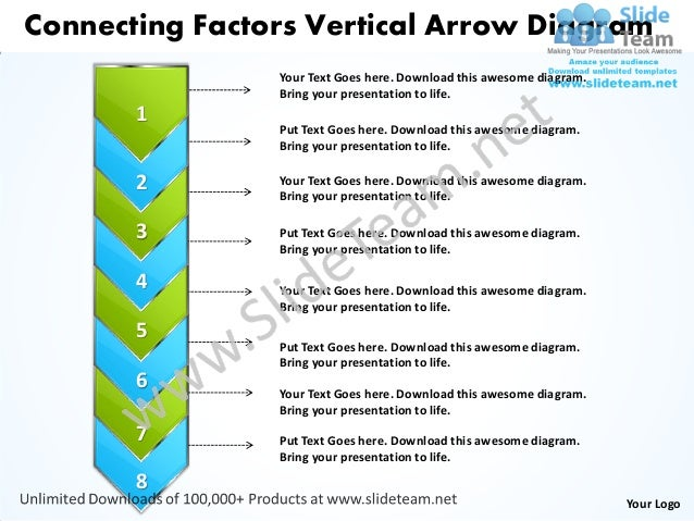 Connecting Factors Vertical Arrow Diagram                Your Text Goes here. Download this awesome diagram.              ...