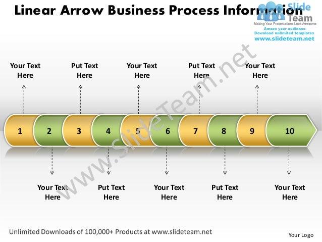 Business power point templates linear arrow process information sales ppt slides