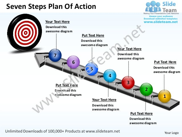 ... Steps Plan Of Action Your Text Here Download this awesome diagram