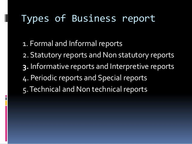 Kinds business report writing