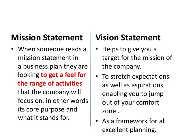 Vision Statements Examples For Business - Info