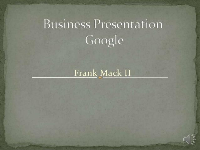 Business presentation final
