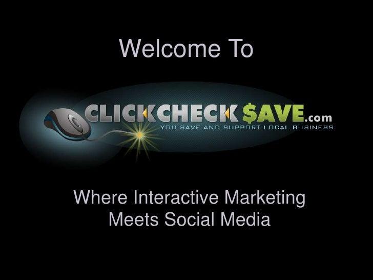 ClickCheckSave.com Business Presentation