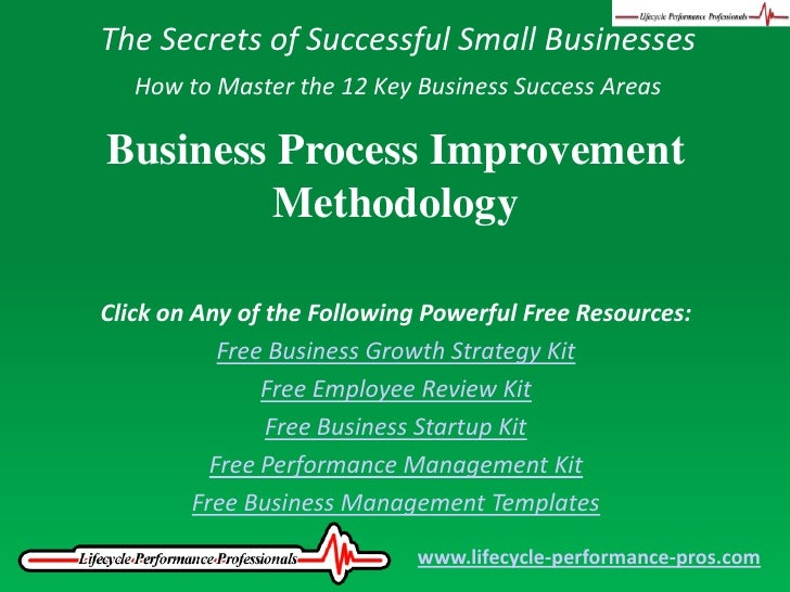Video: Business Process Improvement Methodology