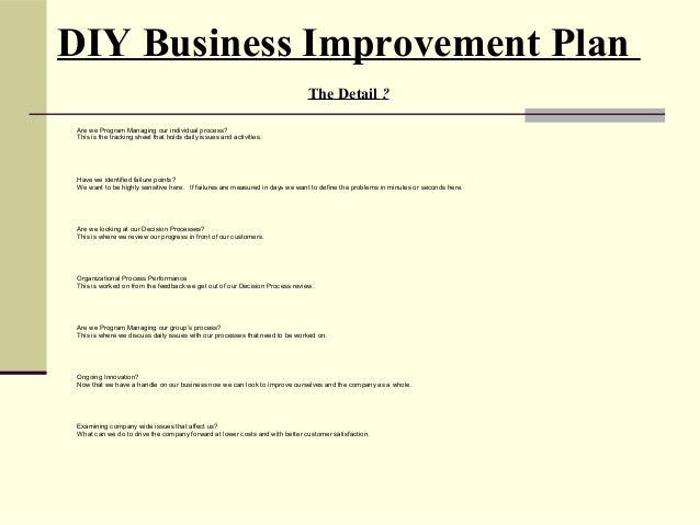 business process improvment plan essay