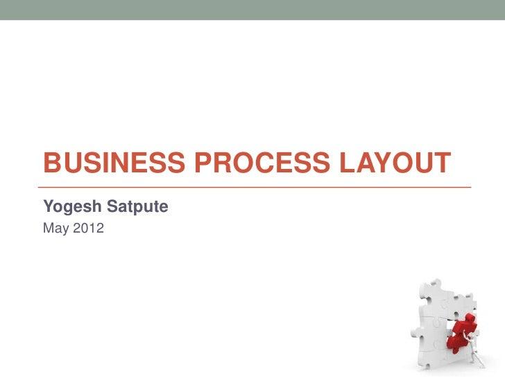 BUSINESS PROCESS LAYOUTYogesh SatputeMay 2012