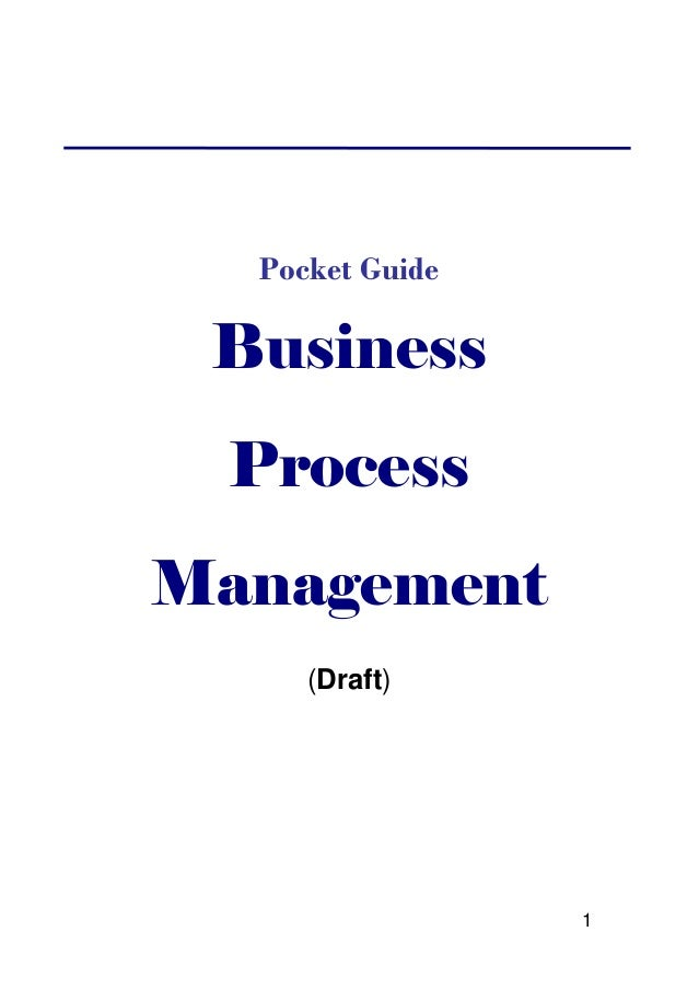 Business process management   pocket guide