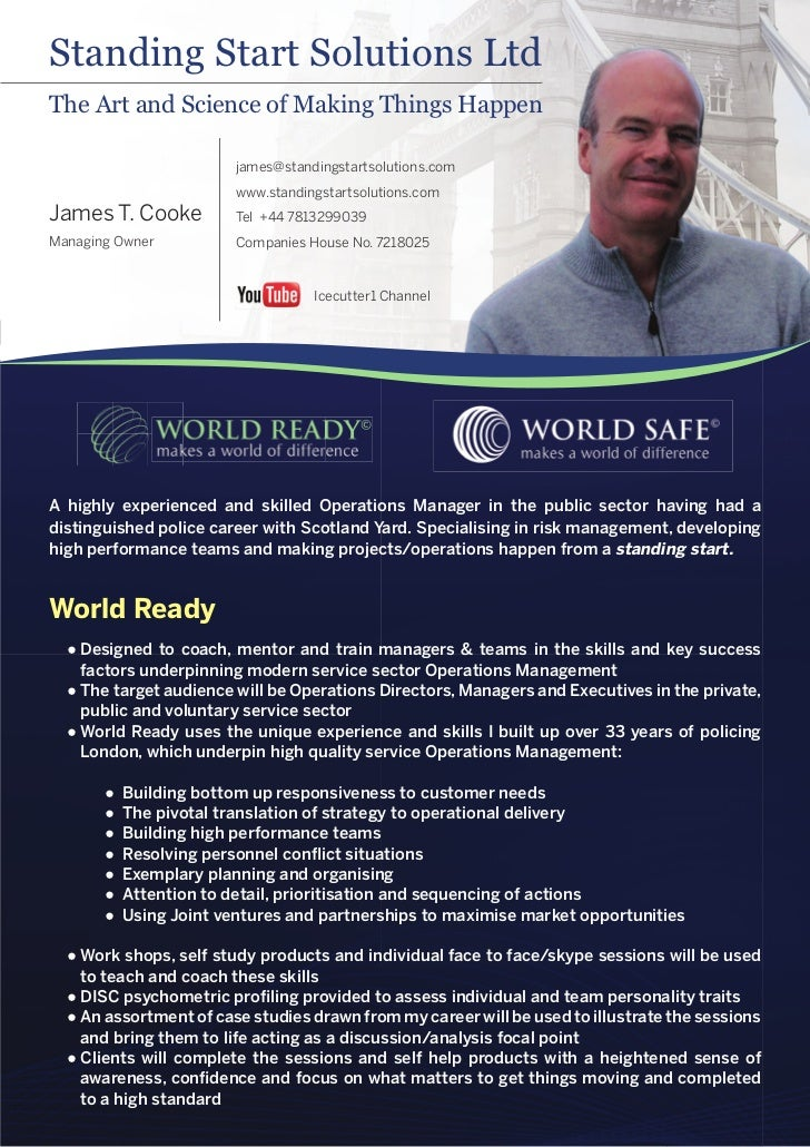 James Cooke Standing Start Solutions Business Profile