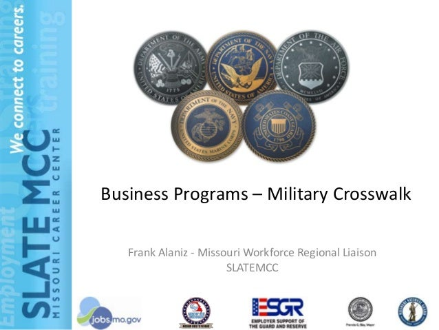 Business programs military crosswalk