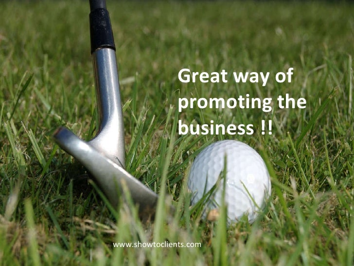 Great way of promoting the business !! www.showtoclients.com