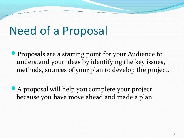Proposal for starting a new business