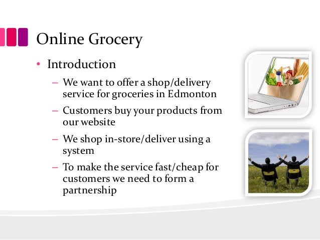 Online grocery business plan