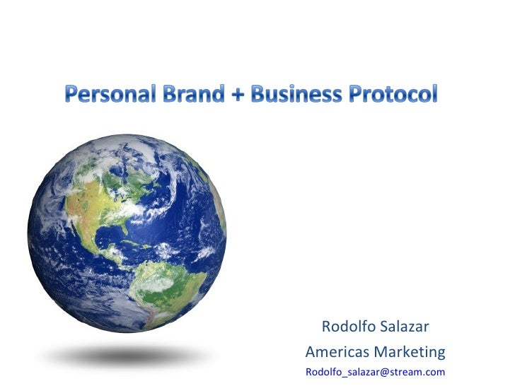 Personal Branding and Business Protocol