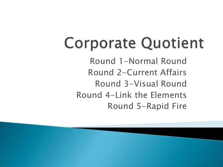 Corporate Quotient-The Business Quiz