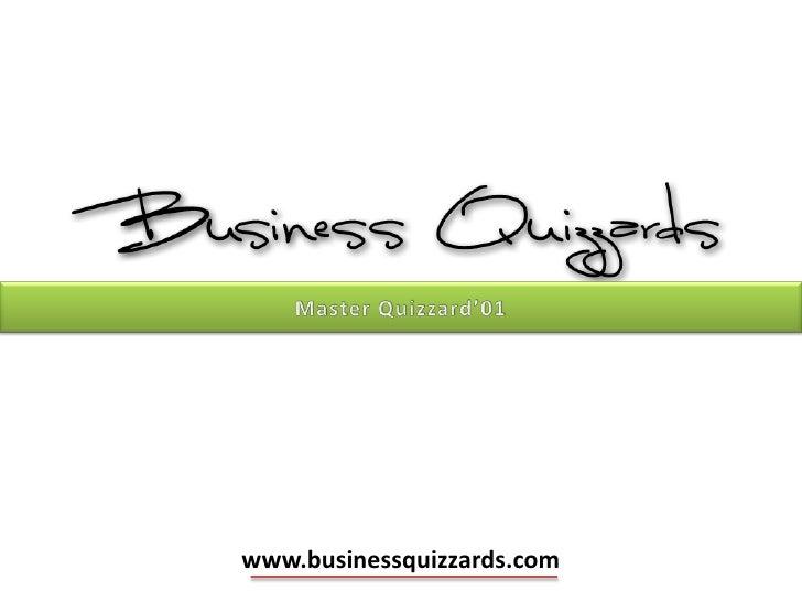 Business quizzards master quizzard'01