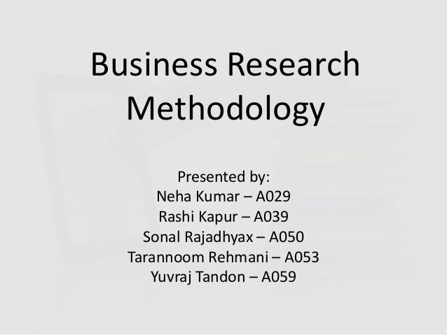 Research methodology for business students