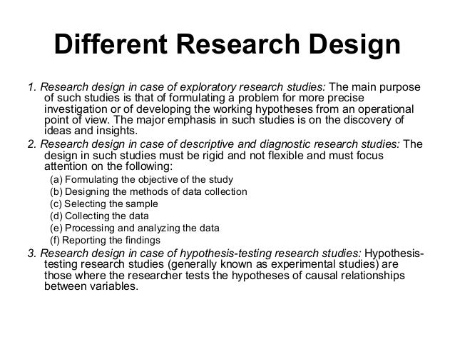exploratory research designs