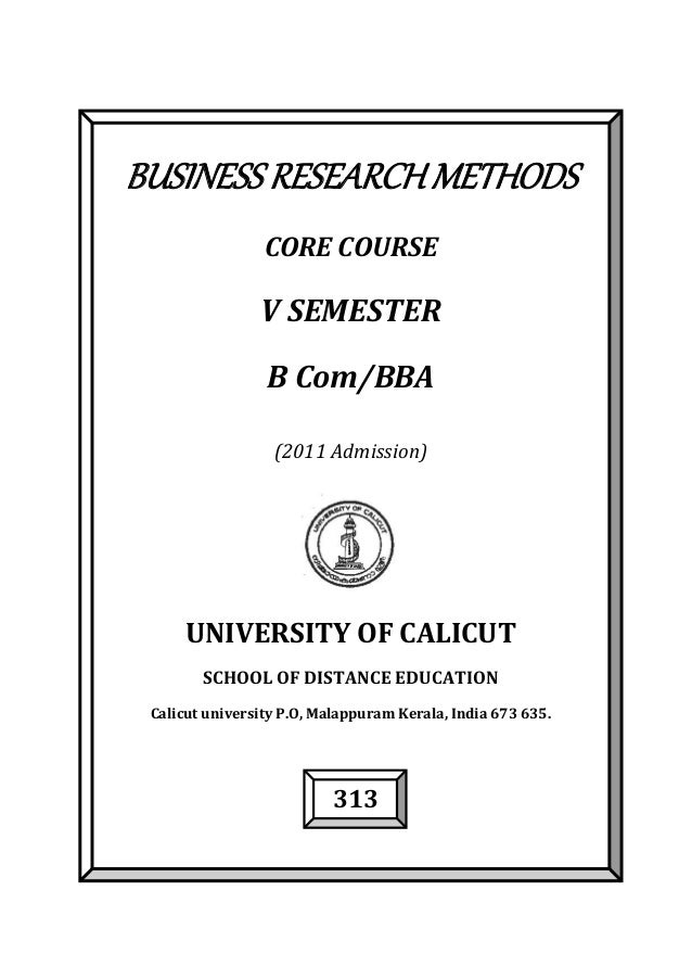 business research methods essay