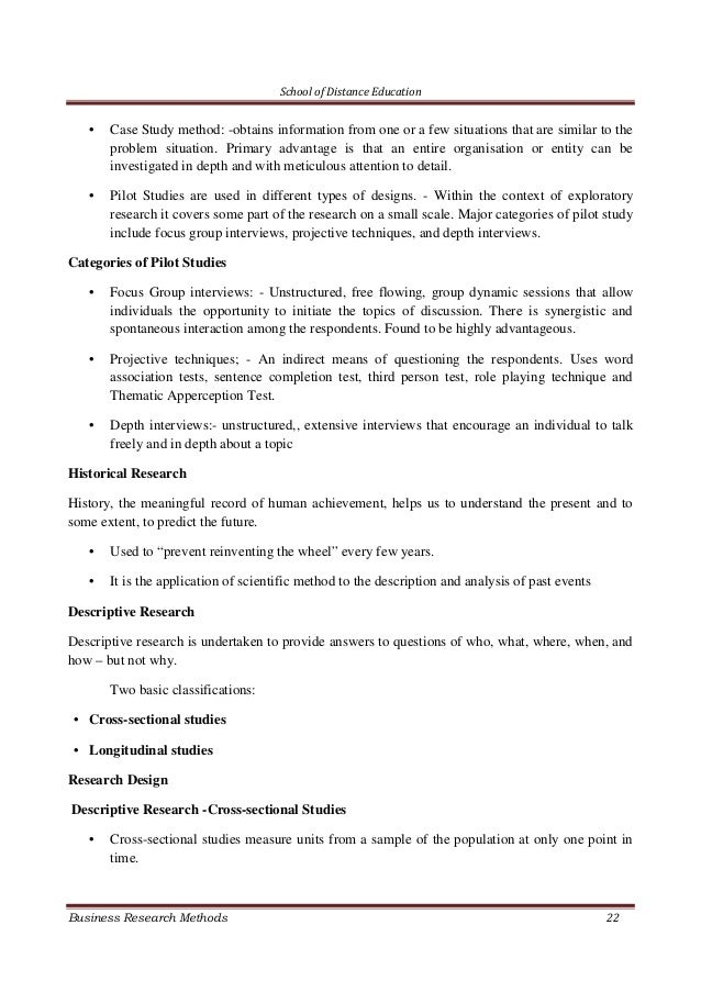 business research method part iii essay