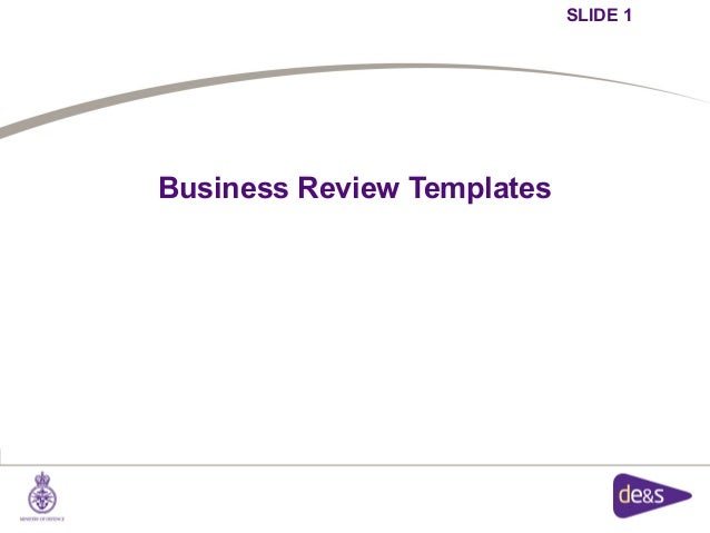 SLIDE 1Business Review Templates