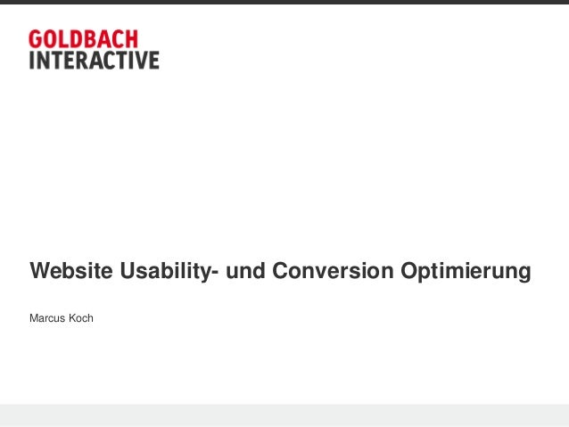 Website Usability- und Conversion OptimierungMarcus Koch
