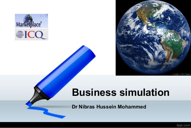Business simulation Dr Nibras Hussein Mohammed