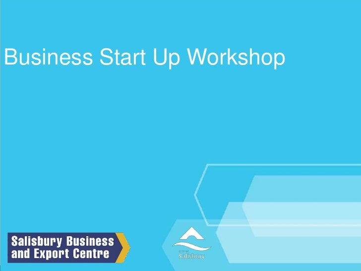 Business Start Up Workshop<br />