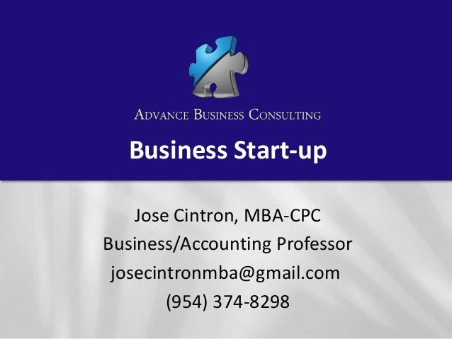 Business start up 1