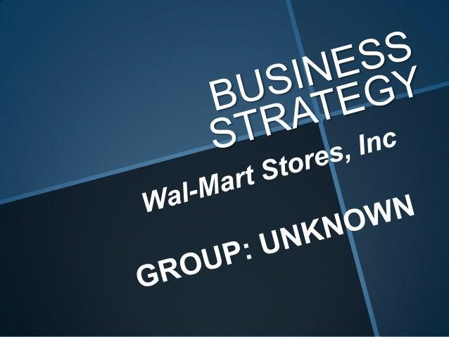 Business strategy- Walmart