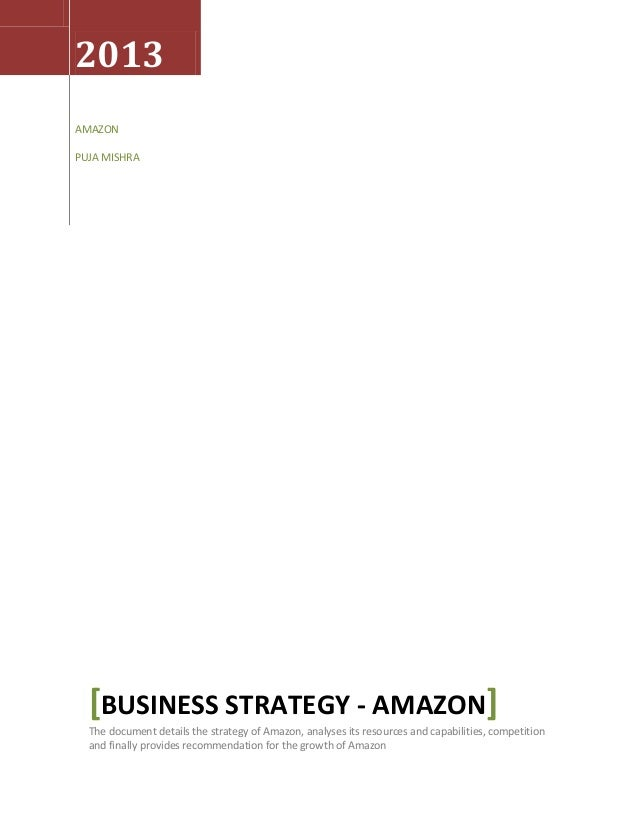 Business strategy amazon puja mishra