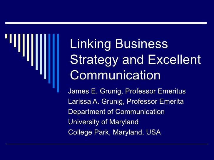 Business Strategy And Excellent Communication