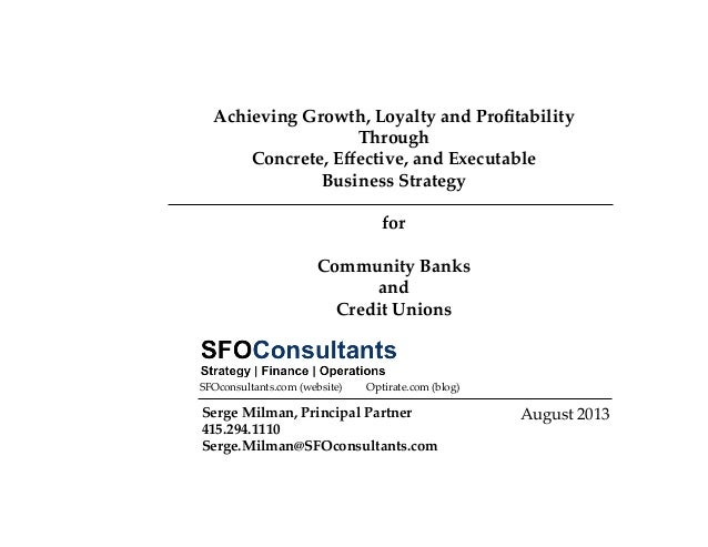 Business Strategy for Banks and Credit Unions