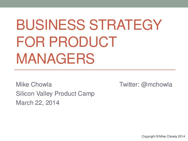 Business Strategy for Product Managers