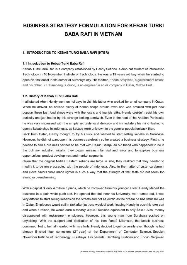 Business Strategy Formula For KTBR in Vietnam