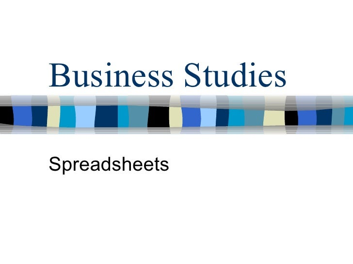 Business Studies Spreadsheets