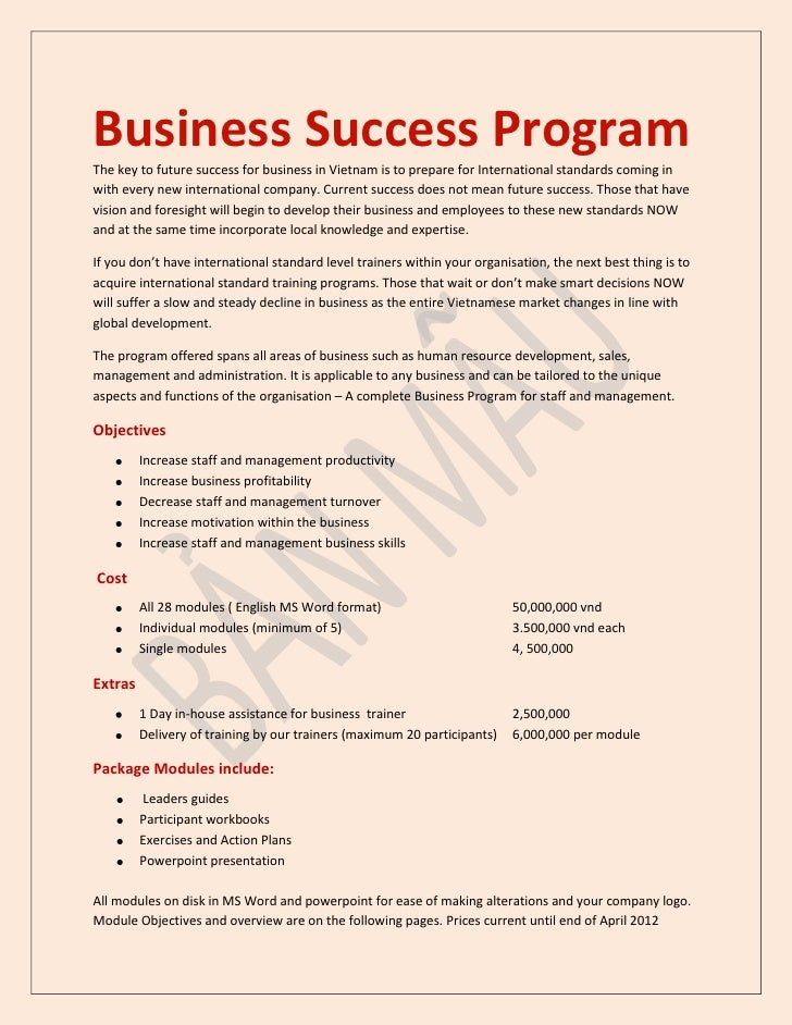 Business Success Program