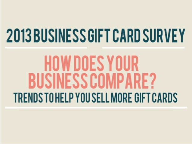 2013 Business Gift Card Survey