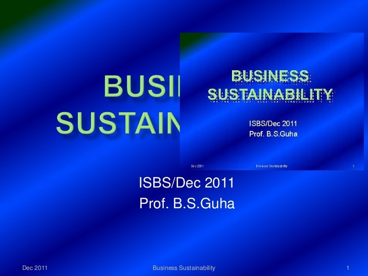 Business sustainability dec11