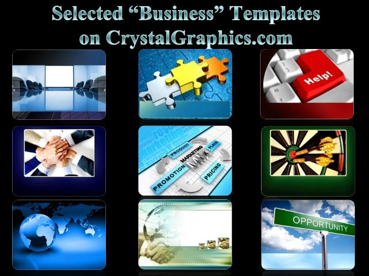 "Selected ""Business"" Templates on CrystalGraphics.com<br />"