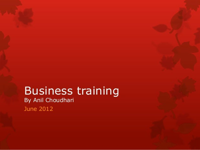 Business training Sales & Marketing