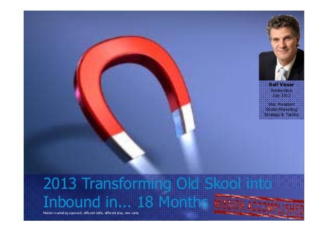 Roadmap Marketing 2013                                                                                 Rolf Visser        ...