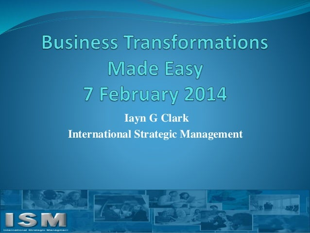 Iayn G Clark International Strategic Management