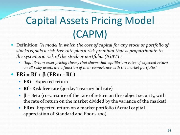 an analysis of the theory of the capital asset pricing model