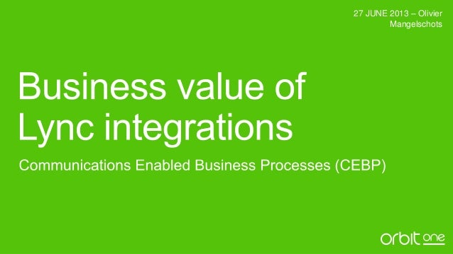 Business value of Lync integrations