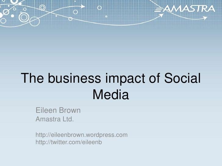 Business impact of social media Sept 2010