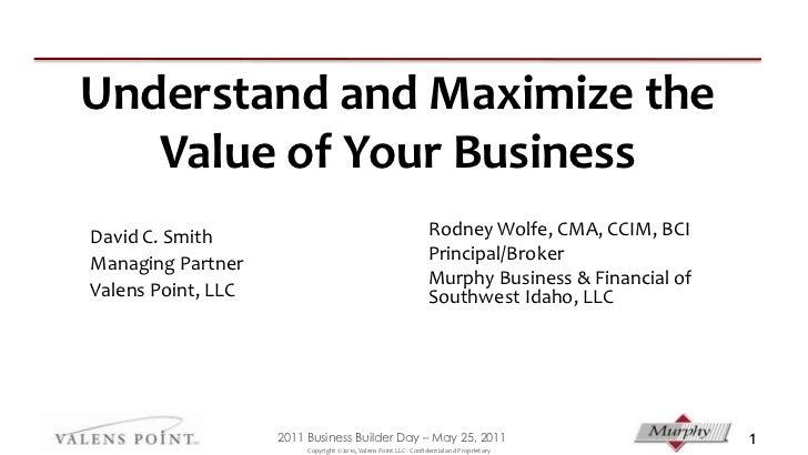 Business value presentation 05 25 2011